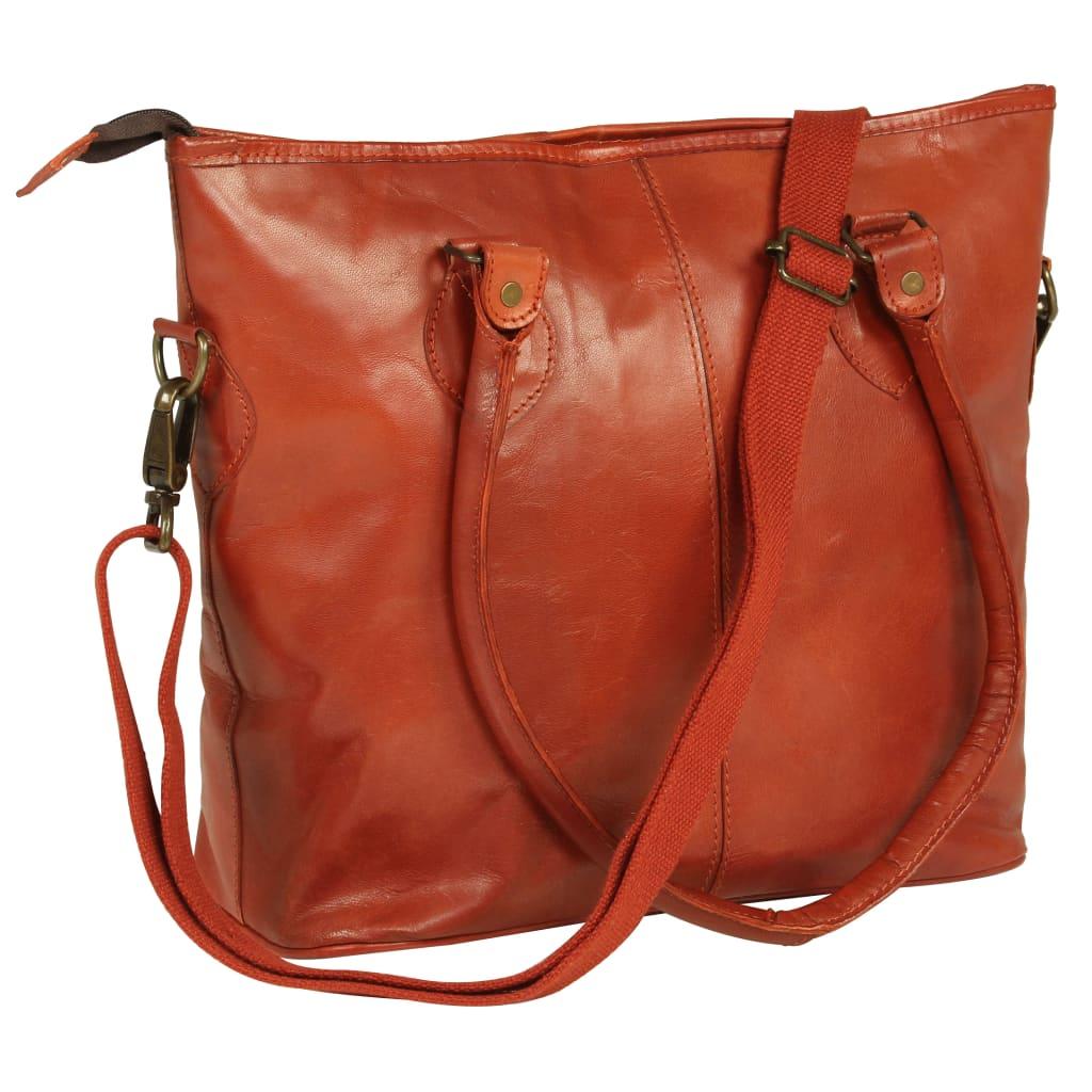 Dámská taška přes rameno bronzová pravá kůže