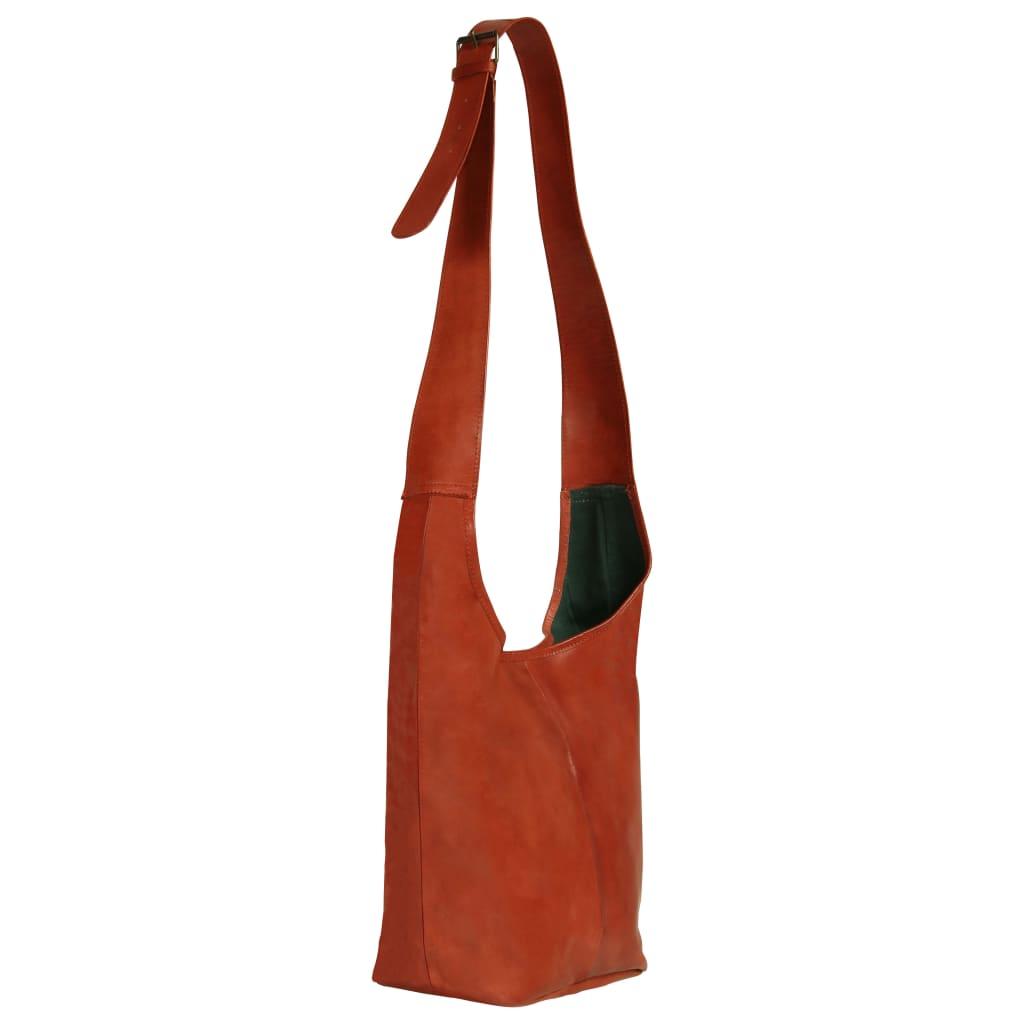 999133315 Damenhandtasche Hellbraun Echtleder