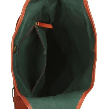 vidaXL Bolsos,carteras y maletines Bolso para mujer de cuero auténtico marrón canela