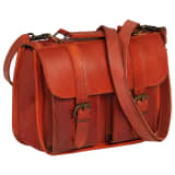 vidaXL Weekend Bag Real Leather Tan