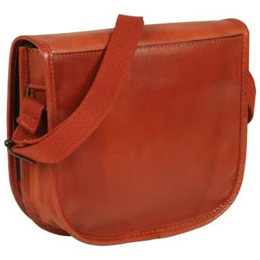 vidaXL håndtaske ægte læder gyldenbrun[1/5]