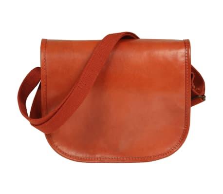 vidaXL håndtaske ægte læder gyldenbrun[2/5]
