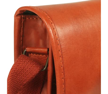 vidaXL håndtaske ægte læder gyldenbrun[4/5]