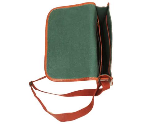vidaXL håndtaske ægte læder gyldenbrun[5/5]