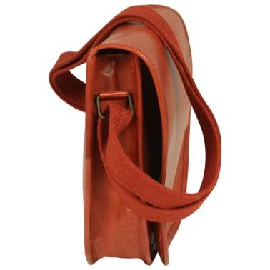 vidaXL håndtaske ægte læder gyldenbrun[3/5]