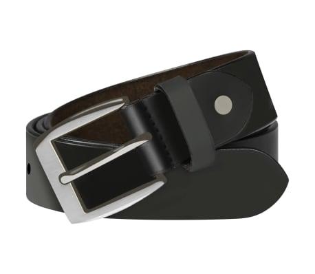 vidaXL Cinturón de cuero negro de hombre para traje 105 cm