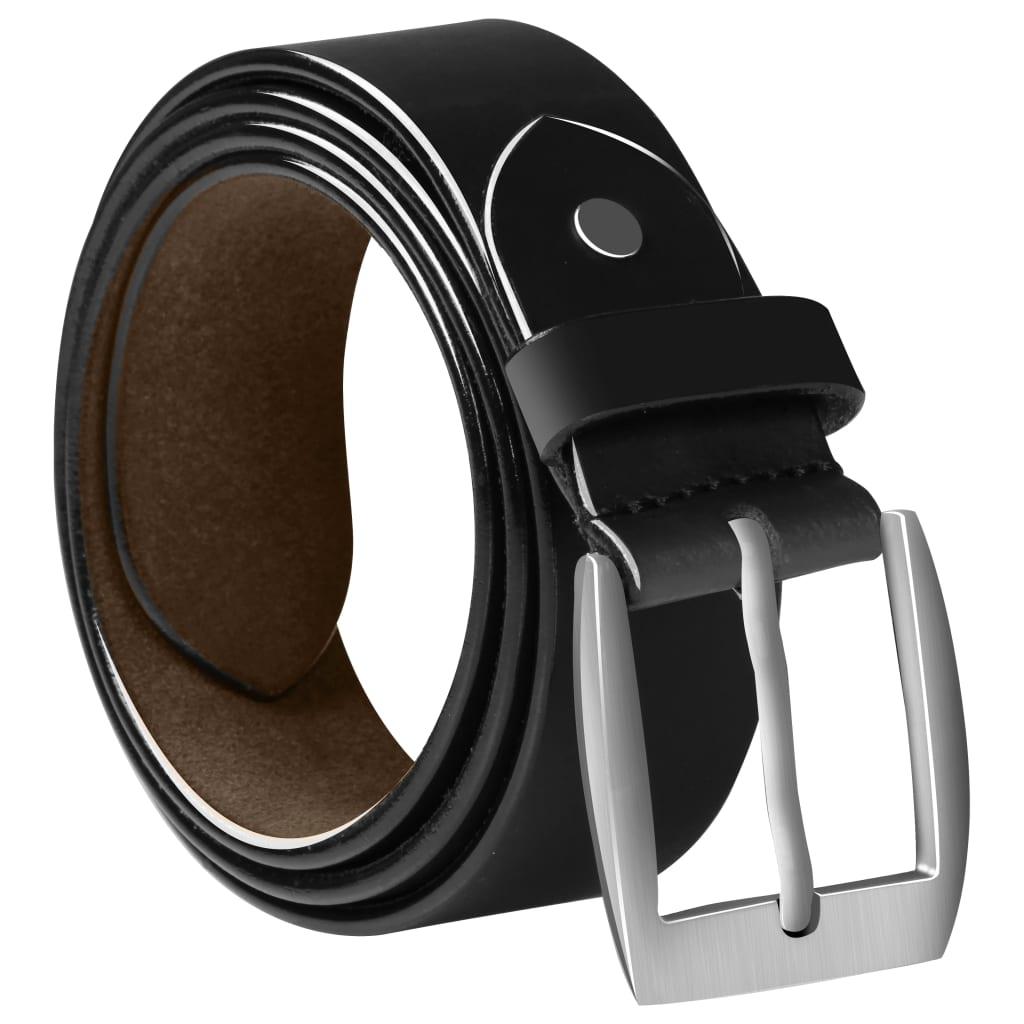 vidaXL Zakelijke riem voor mannen 125 cm leer zwart