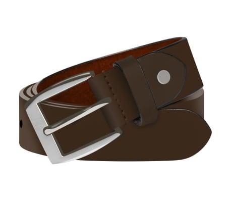 vidaXL Cinturón de cuero marrón de hombre para traje 95 cm[1/4]