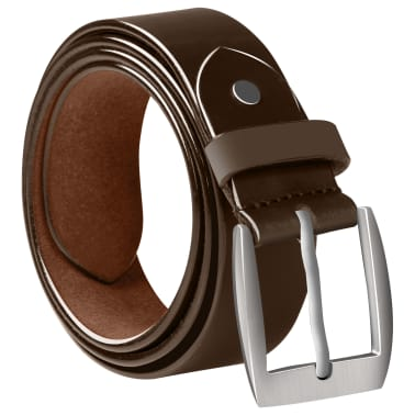 vidaXL Cinturón de cuero marrón de hombre para traje 95 cm[2/4]