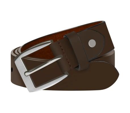 vidaXL Cinturón de cuero marrón de hombre para traje 125 cm[1/4]