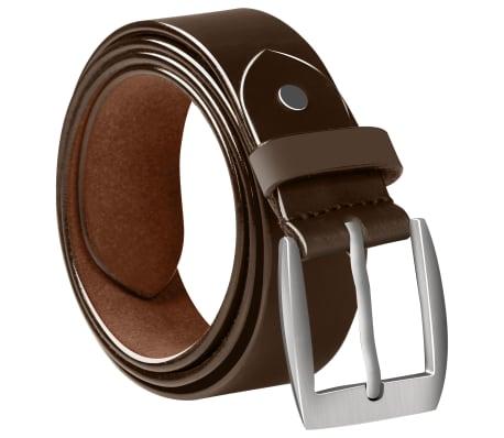 vidaXL Cinturón de cuero marrón de hombre para traje 125 cm[2/4]