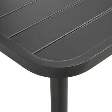 """vidaXL Garden Table Dark Grey 70.9""""x35.4""""x28.3"""" Steel[3/4]"""