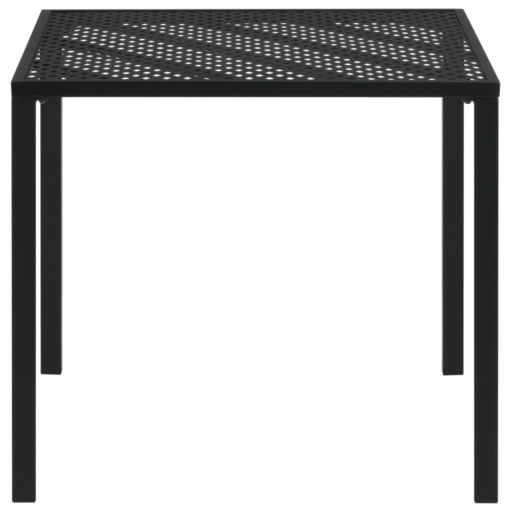 vidaXL Tuintafel gaas 80x80x72 cm staal zwart