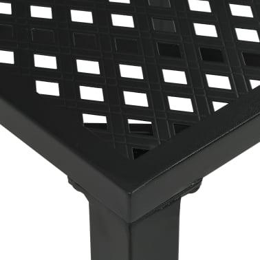 vidaXL Matbord för trädgården stål 150x90x72 cm svart nät[3/4]