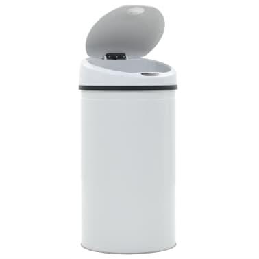 vidaXL Coș de gunoi cu senzor, 42 L, alb[4/8]