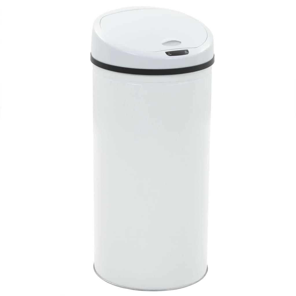 vidaXL Coș de gunoi cu senzor, 52 L, alb poza vidaxl.ro