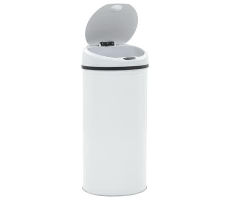 vidaXL Cubo de basura con sensor 52 L blanco[4/8]