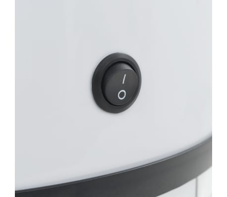 vidaXL Cubo de basura con sensor 52 L blanco[8/8]