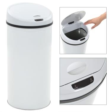 vidaXL Coș de gunoi cu senzor, 52 L, alb[2/8]