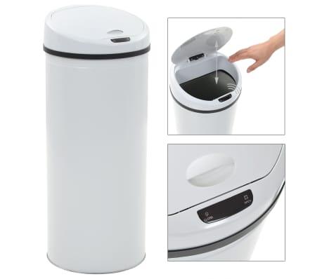 vidaXL Coș de gunoi cu senzor, 62 L, alb[2/8]