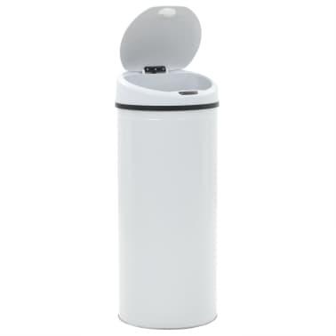 vidaXL Coș de gunoi cu senzor, 62 L, alb[4/8]
