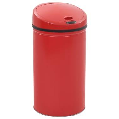 vidaXL Coș de gunoi cu senzor, 42 L, roșu[1/8]