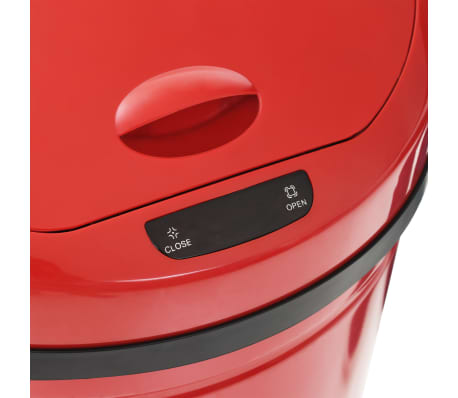 vidaXL Coș de gunoi cu senzor, 42 L, roșu[7/8]