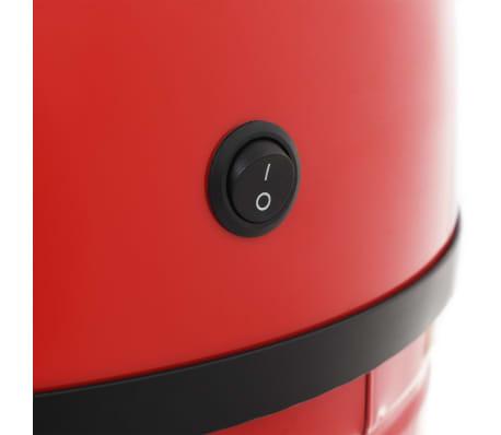 vidaXL Coș de gunoi cu senzor, 42 L, roșu[8/8]