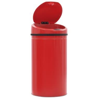 vidaXL Coș de gunoi cu senzor, 42 L, roșu[4/8]