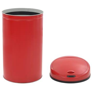 vidaXL Coș de gunoi cu senzor, 42 L, roșu[6/8]