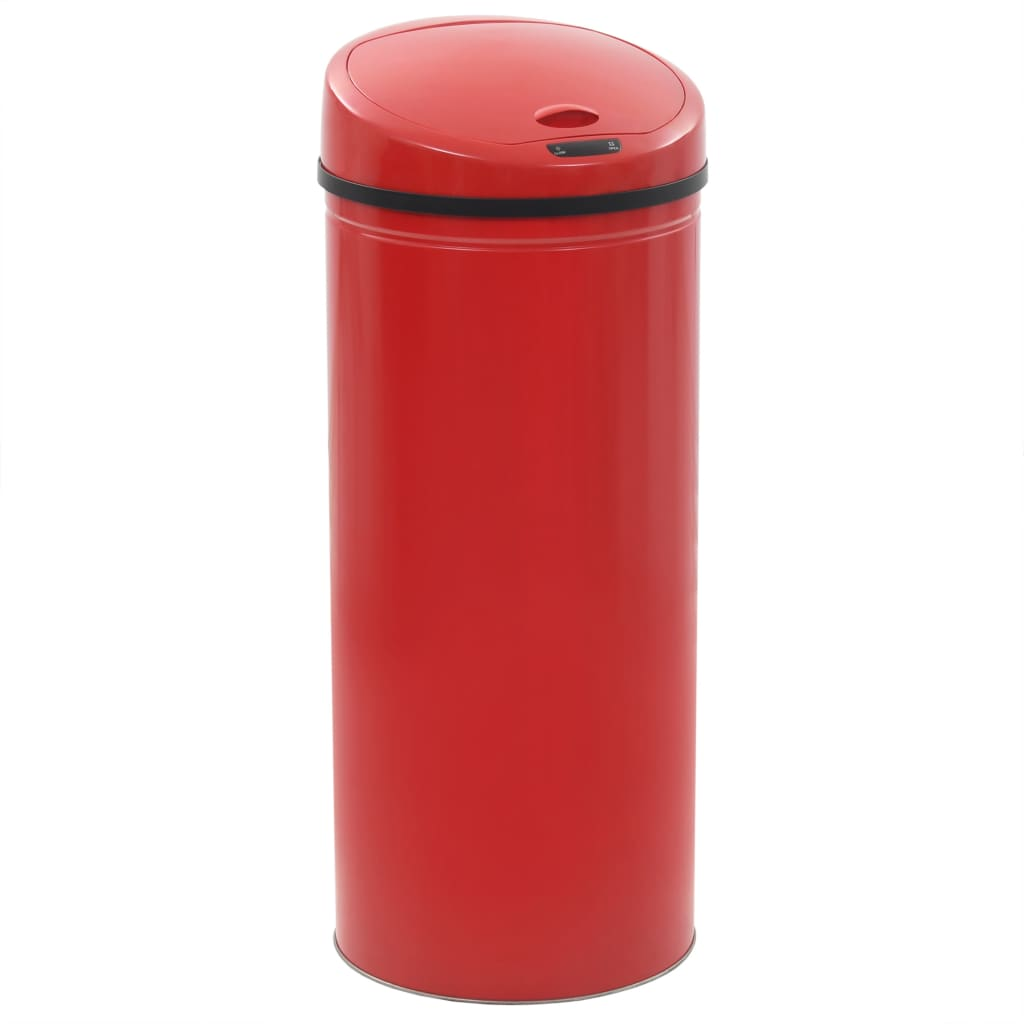 vidaXL Coș de gunoi cu senzor, 62 L, roșu poza vidaxl.ro