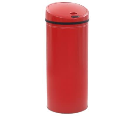 vidaXL Poubelle à capteur 62 L Rouge