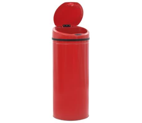 vidaXL Kosz na śmieci z czujnikiem, 62 L, czerwony[4/8]