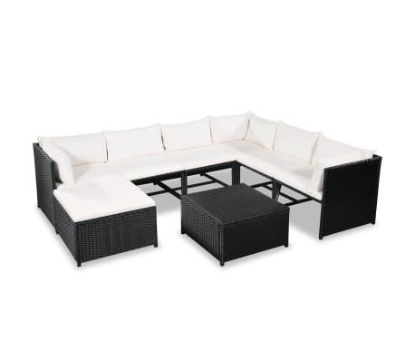 Details about vidaXL Garden Sofa Set 24 Pieces Poly Rattan Wicker Outdoor  Lounge Furniture