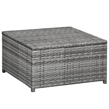 vidaXL 6 Piece Garden Lounge Set with Cushions Poly Rattan Gray[2/5]