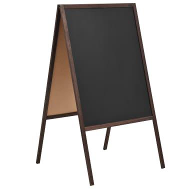 vidaXL Doppelseitige Tafel Zedernholzrahmen Freistehend 60x80 cm[1/6]