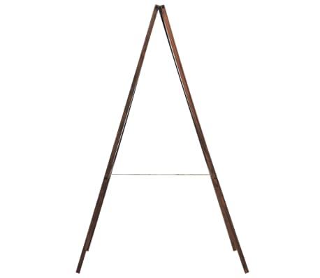 vidaXL Doppelseitige Tafel Zedernholzrahmen Freistehend 60x80 cm[4/6]