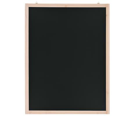 vidaXL Tableau noir mural Bois de cèdre 60 x 80 cm[1/4]
