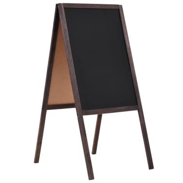 vidaXL Tableau noir double face Bois de cèdre Autoportant 40 x 60 cm[1/5]