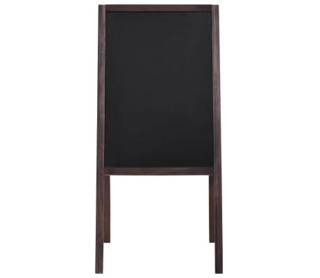 vidaXL Tableau noir double face Bois de cèdre Autoportant 40 x 60 cm[2/5]