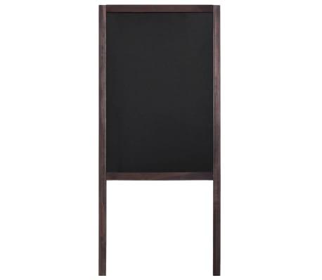 vidaXL Tableau noir double face Bois de cèdre Autoportant 40 x 60 cm[3/5]