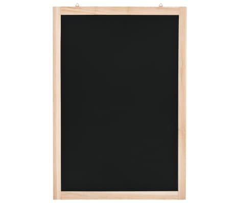 vidaXL Quadro negro de parede em madeira de cedro 40x60cm