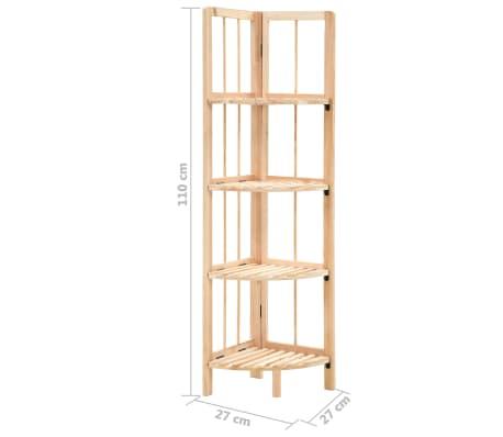 vidaXL Kampinė lentyna, kedro mediena, 27x27x110cm[6/6]