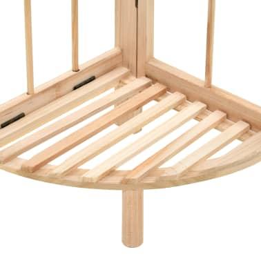 vidaXL Kampinė lentyna, kedro mediena, 27x27x110cm[4/6]