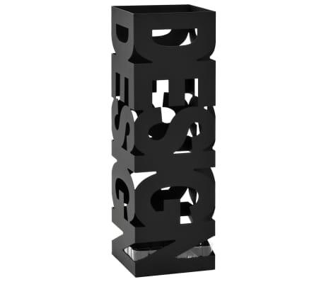 vidaXL Regenschirmständer Design Stahl Schwarz[1/5]