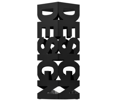 vidaXL Regenschirmständer Design Stahl Schwarz[2/5]