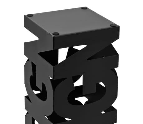 vidaXL Regenschirmständer Design Stahl Schwarz[4/5]