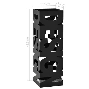 vidaXL Regenschirmständer Design Stahl Schwarz[5/5]