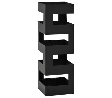 vidaXL Stojak na parasole, tetris , stalowy, czarny[1/5]