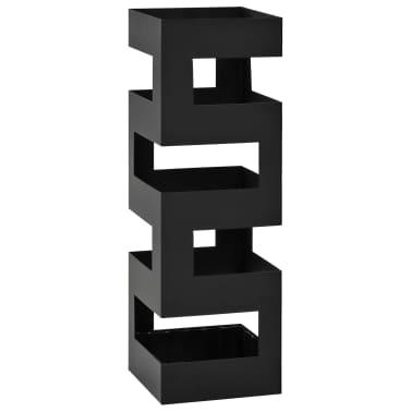 vidaXL Porte-parapluie Tetris Acier Noir[1/5]